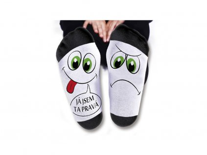 Vtipné ponožky pánské Já jsem ta pravá