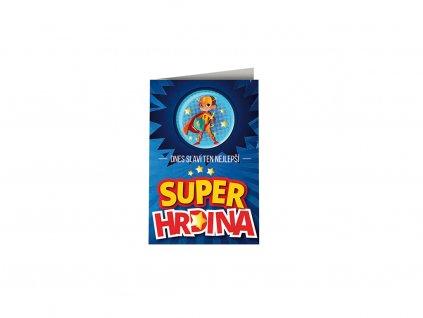 Přání k narozeninám s plackou Super hrdina