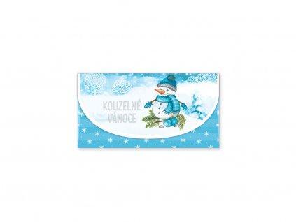 Vánoční obálka na peníze Sněhulák