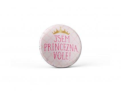 Vtipný magnet s potiskem Jsem princezna