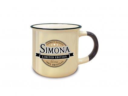 Hrnek se jménem SIMONA Retro