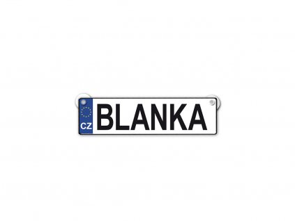 Originální SPZ cedulka se jménem BLANKA