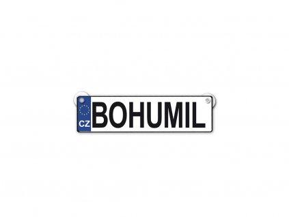 Originální SPZ cedulka se jménem BOHUMIL