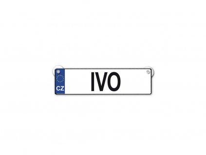 Originální SPZ cedulka se jménem IVO