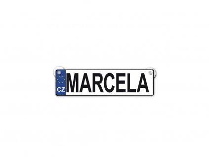 Originální SPZ cedulka se jménem MARCELA