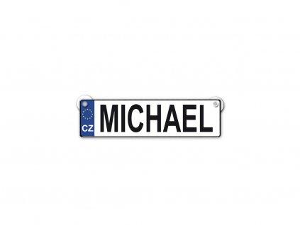 Originální SPZ cedulka se jménem MICHAEL
