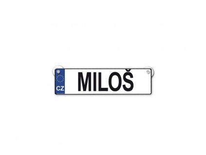 Originální SPZ cedulka se jménem MILOŠ