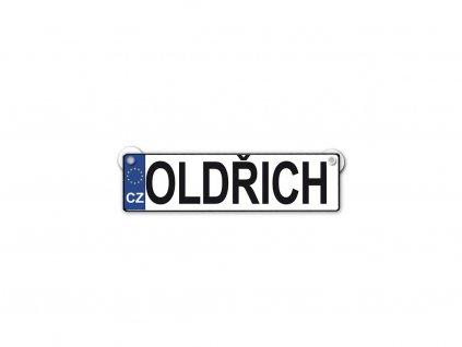 Originální SPZ cedulka se jménem OLDŘICH