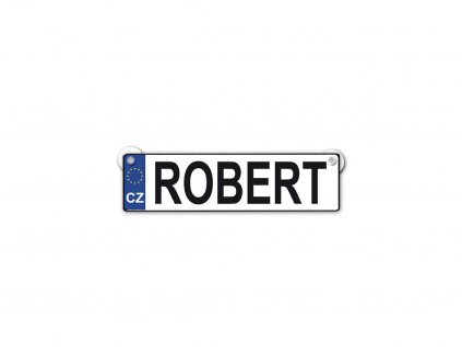 Originální SPZ cedulka se jménem ROBERT