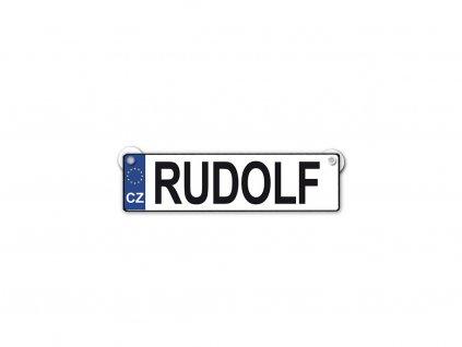 Originální SPZ cedulka se jménem RUDOLF
