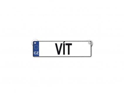 Originální SPZ cedulka se jménem VÍT
