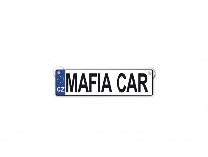 Originální SPZ cedulka Mafia car