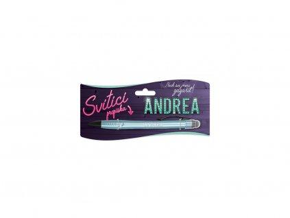 Svítící propiska se jménem ANDREA