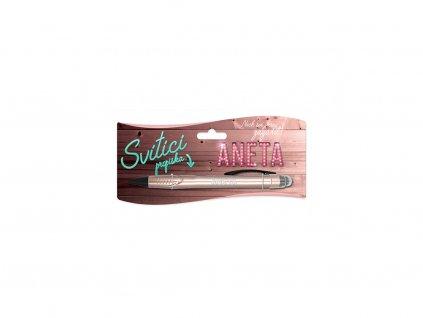 Svítící propiska se jménem ANETA