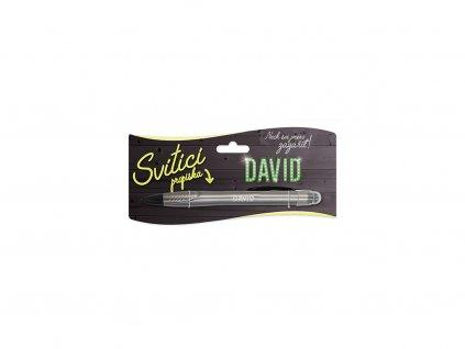 Svítící propiska se jménem DAVID