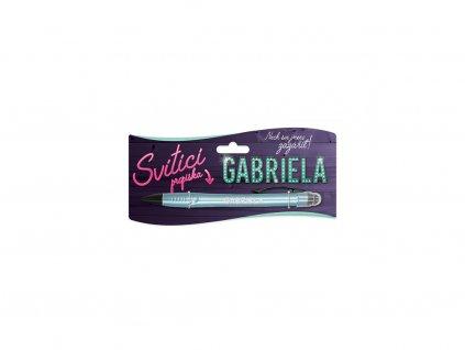 Svítící propiska se jménem GABRIELA