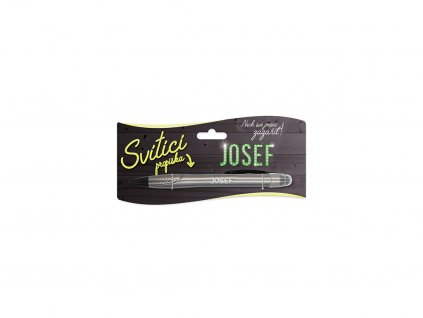 Svítící propiska se jménem JOSEF