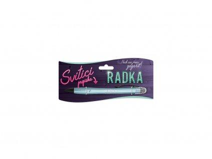 Svítící propiska se jménem RADKA