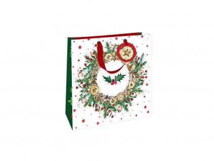 Vánoční dárková taška velká Adventní věnec