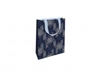 Dárková taška malá Modrý vzor