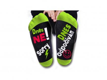 Vtipné ponožky dámské Dnes ne, odpočívám