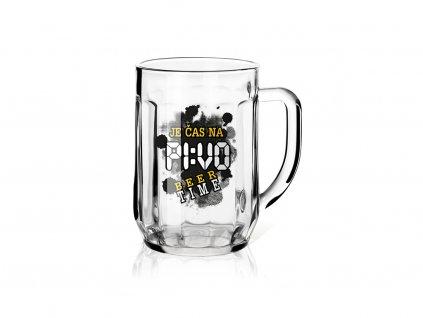 Dárková sklenice na pivo 0,5 l Je čas na pivo