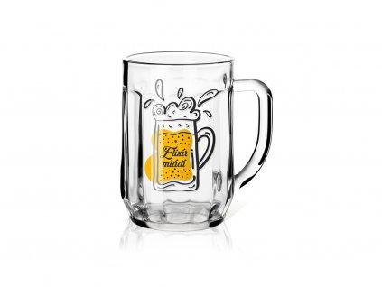 Dárková sklenice na pivo 0,5 l Elixír mládí