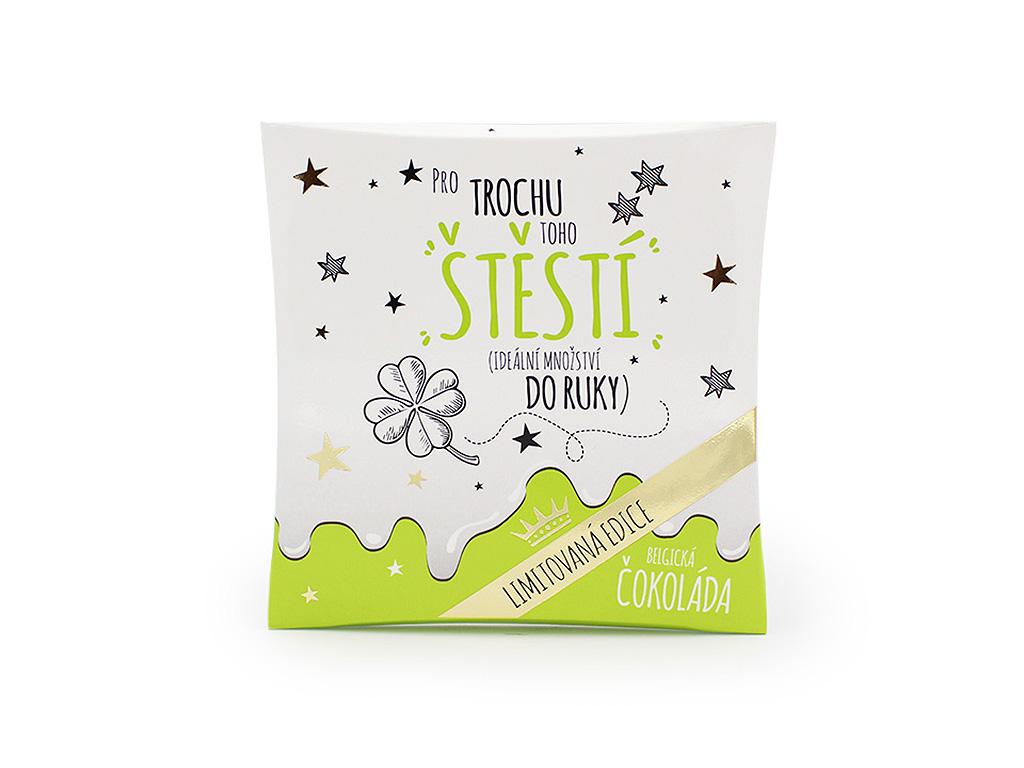 Mléčná čokoláda v dárkovém balení Pro štěstí