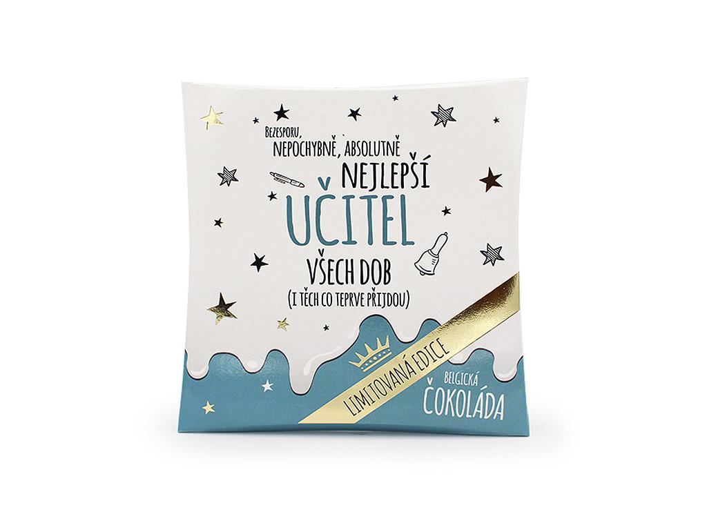 Mléčná čokoláda v dárkovém balení Nejlepší učitel