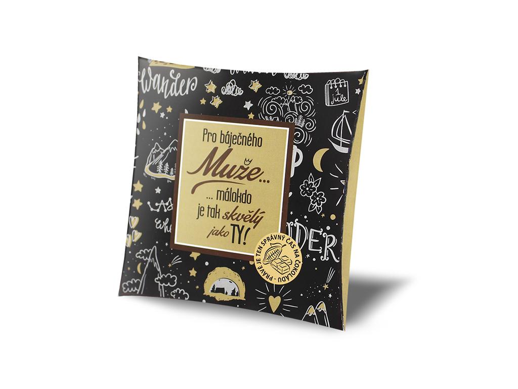 Dárková mléčná čokoláda Pro báječného muže