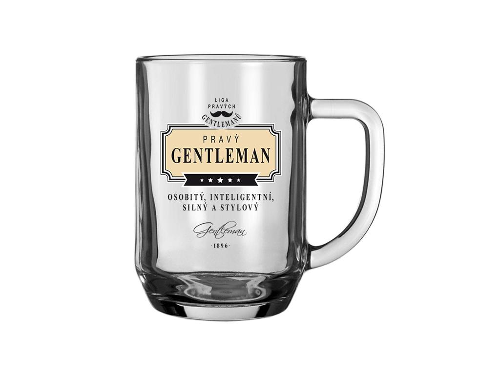 Pivní sklenice Pravý gentleman