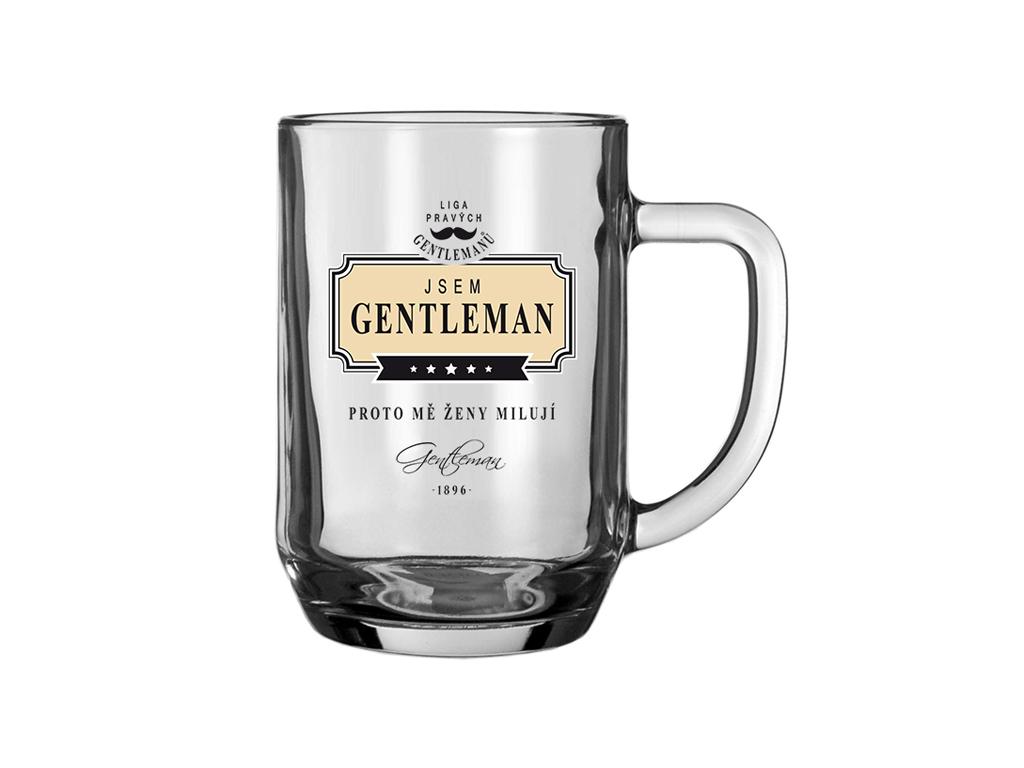 Pivní sklenice Gentlemana ženy milují