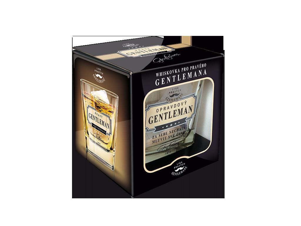 Sklenice na whisky Opravdový gentleman