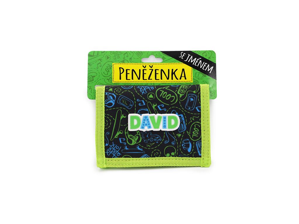 Dětská peněženka se jménem DAVID