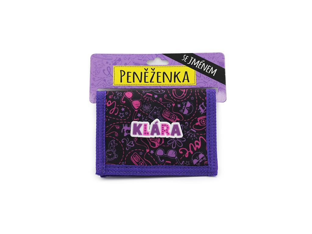 Dětská peněženka se jménem KLÁRA