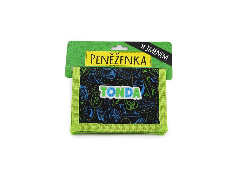 Dětská peněženka se jménem TONDA