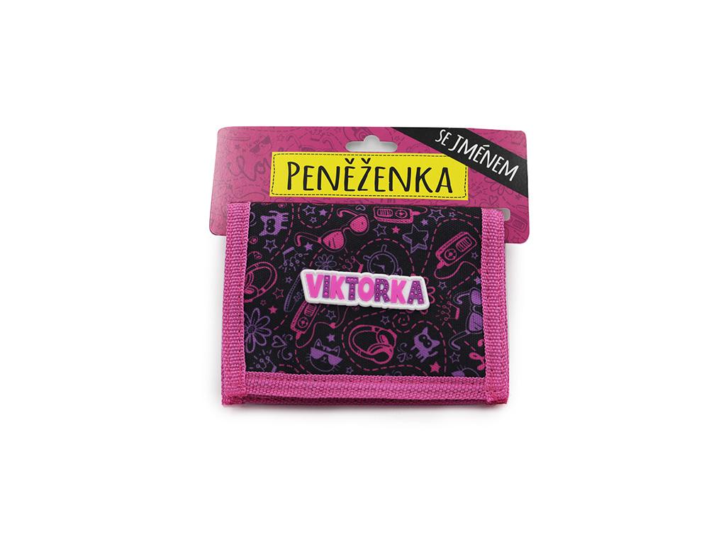 Dětská peněženka se jménem VIKTORKA