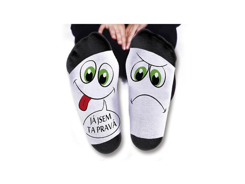 Vtipné ponožky dámské Já jsem ta pravá