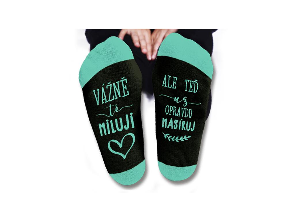 Vtipné ponožky dámské Vážně tě miluji