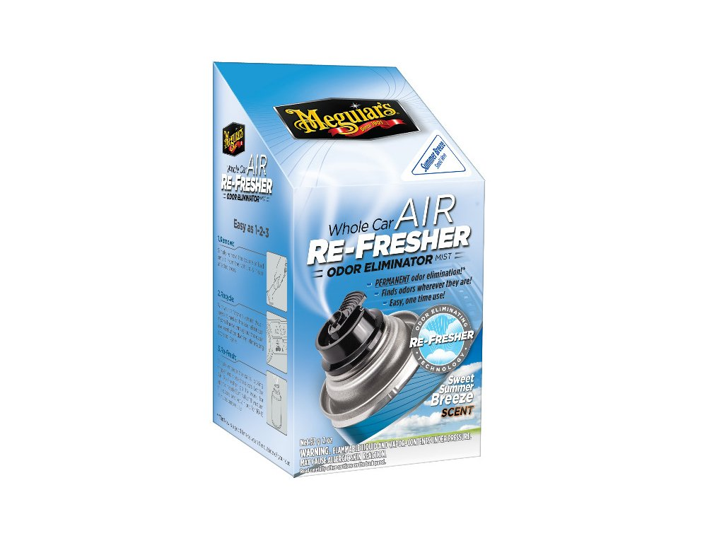 Meguiars Air Re Fresher Odor Eliminator Summer Breeze Scent cistic klimatizace pohlcovac pachu osvezovac vzduchu vune Summer Breeze 71 g