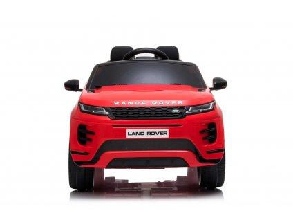 Elektrické autíčko Range Rover Evoque, Jednomístné, červené, Kožená sedadla, MP3 Přehrávač s přípojkou USB / SD, Pohon 4x4, Baterie 12V10AH, EVA kola, Odpružené nápravy, Klíčová třípolohové startování, 2,4 GHz Bluetooth Dálkový Ovladač, Licence