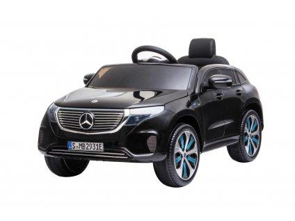 Elektrické autíčko Mercedes-Benz EQC, 12V, 2,4 GHz dálkové ovládání, USB / SD Vstup, odpružení, 12V / 7Ah baterie, LED Světla měkké EVA kola, 2 X MOTOR, černé, ORIGINÁL licence