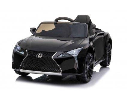Elektrické autíčko Lexus LC500, 12V, 2,4 GHz dálkové ovládání, USB / SD Vstup, odpružení, otvíravé dveře směrem nahoru, 2 X MOTOR, černé, ORIGINAL licence