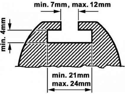 Střešní nosič, KAMEI (Sliding-Adapter 20 mm groove guide (CSS))