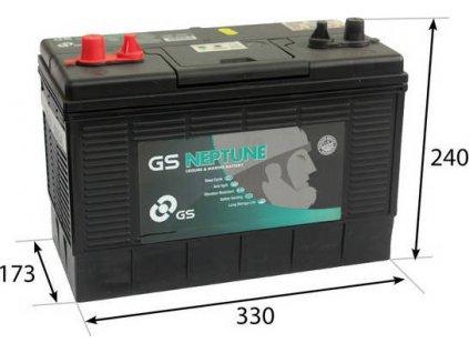 GS baterie M100 Marine 100 Ah