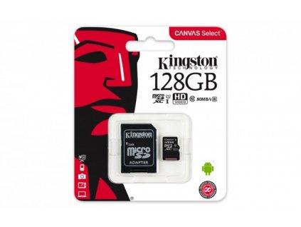 kingston micro sdxc canvas select 128gb sd adapter sdcs 128gb original 1081365