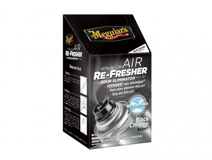 Meguiars Air Re Fresher Odor Eliminator Black Chrome Scent cistic klimatizace pohlcovac pachu osvezovac vzduchu vune Black Chrome 71 g 2