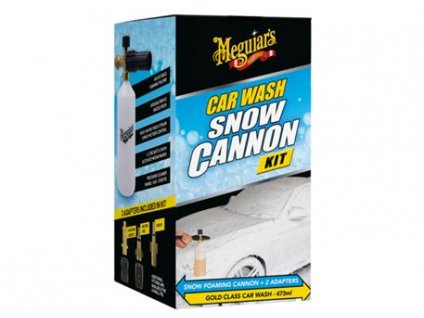 Meguiar's Car Wash Snow Cannon Kit - sada napěňovače a autošamponu Meguiar's Gold Class, 473 ml