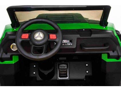 Farmářské elektrické autíčko RIDER 4X4 s pohonem všech kol, 2x12V baterie, EVA kola, široké dvoumístné sedadlo, Odpružené nápravy, 2,4 GHz Dálkový ovladač, Dvoumístné, MP3 přehrávač se vstupem USB / SD, Bluetooth