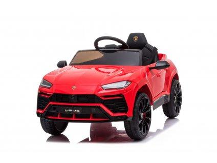 Elektrické autíčko Lamborghini Urus, 12V, 2,4 GHz dálkové ovládání, USB / SD Vstup, odpružení, otvíravé dveře, měkké EVA kola, 2 X MOTOR, červené, ORIGINAL licence